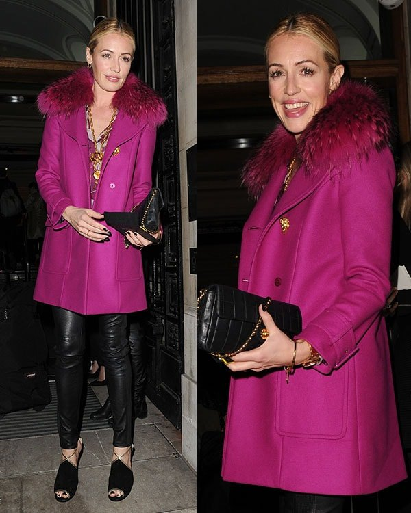 Cat Deeley arrives at Matthew Williamson's show held during London Fashion Week