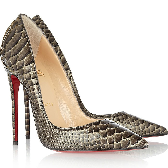 Christian Louboutin So Kate Pumps in Bronze Python
