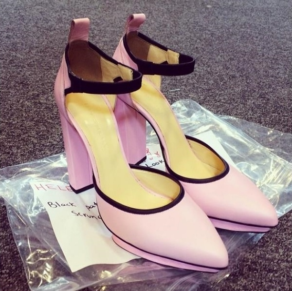 Pink pumps from Christopher Kane's Fall 2014 collection