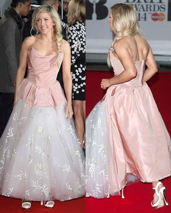 Ellie Goulding 2014 Brit Awards1