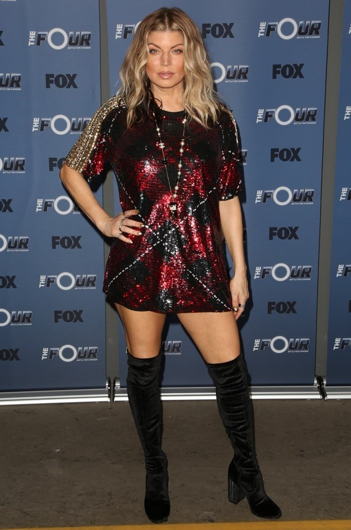 """Fergie arrives at the premiere of """"The Four: Battle For Stardom"""""""