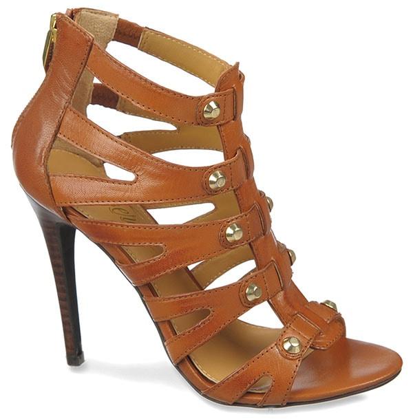 Fergie Ryan Sandals in Tan Salerno Leather