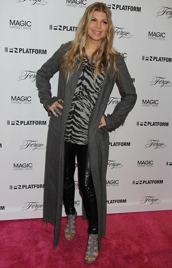 Fergie promotes her footwear line at MAGIC Market Week