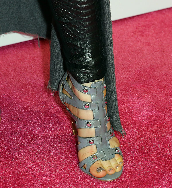 """Fergie displays her toes in """"Ryan"""" sandals from her own collection"""
