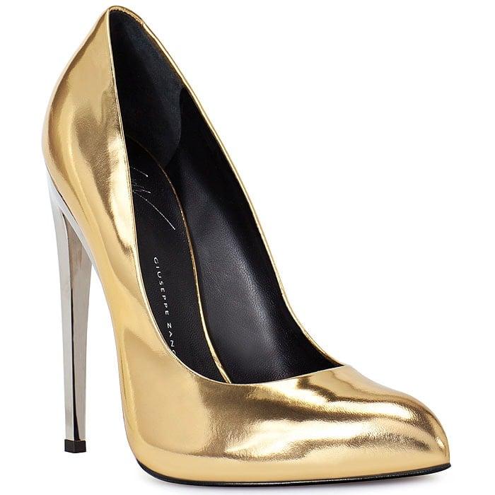 Giuseppe Zanotti gold mirror pumps