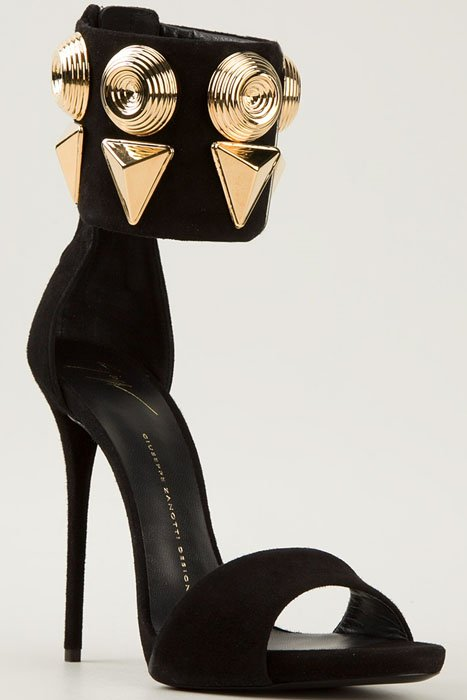 Giuseppe Zanotti gold stud cuff sandals