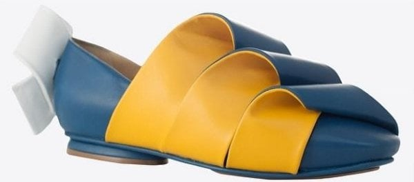 Folded leather flats from J.W. Anderson's Fall 2014 collection