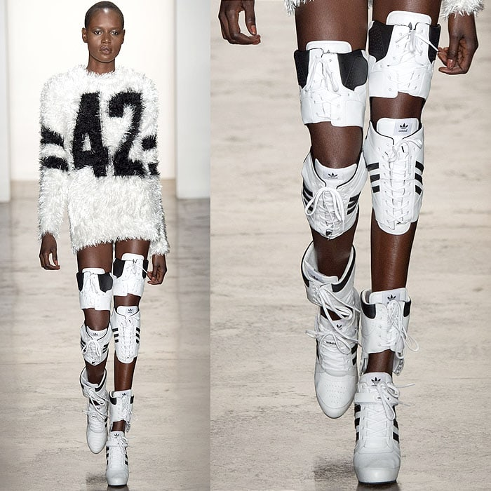 Jeremy Scott x Adidas Thigh-High Fashion Sneaker Boots 6add10d51cf8