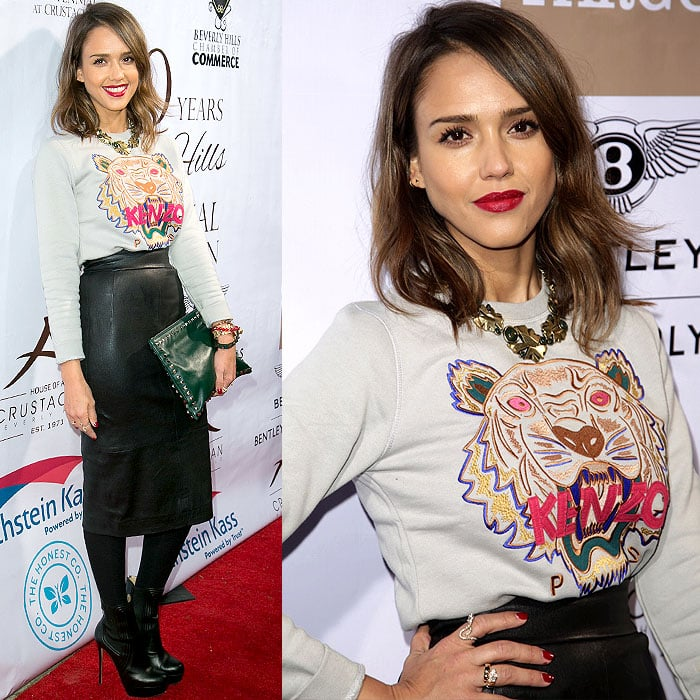 Jessica Alba at the EXPERIENCE: East Meets West event hosted by the Beverly Hills Chamber of Commerce at the Crustacean restaurant in Beverly Hills, California, on February 5, 2014