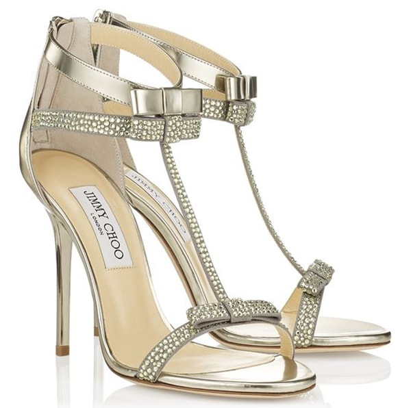 Jimmy Choo Escape Sandals Mirrored Leather
