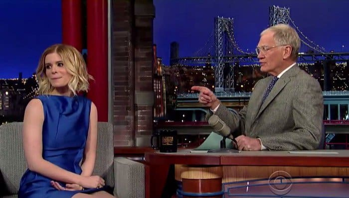 Kate Mara Letterman