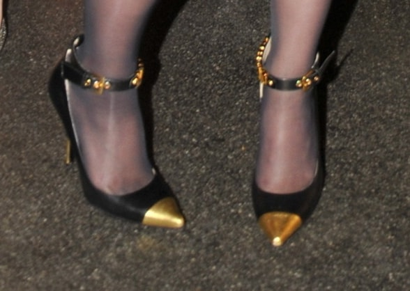 Katy Perry's Moschino ankle-strap pumps