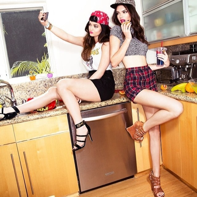 Steve Madden's Instagram snaps of Kendall and Kylie Jenner's modeling photos for their Madden Girl collection