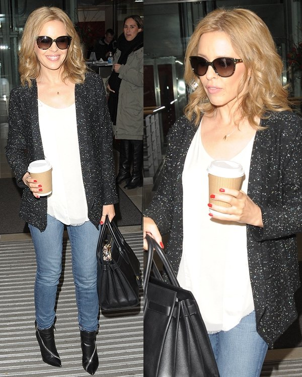 Kylie Minogue out and about London