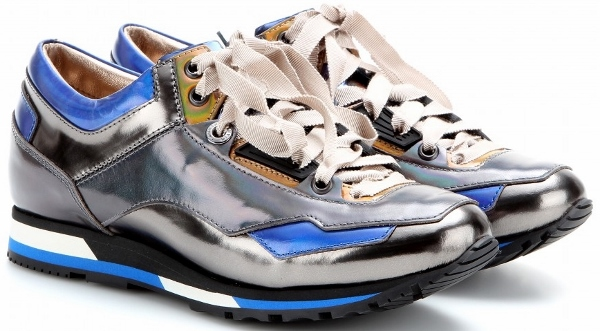 Lanvin Holographic Leatehr Sneakers
