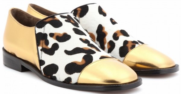 Marni Metallic Leopard Loafers