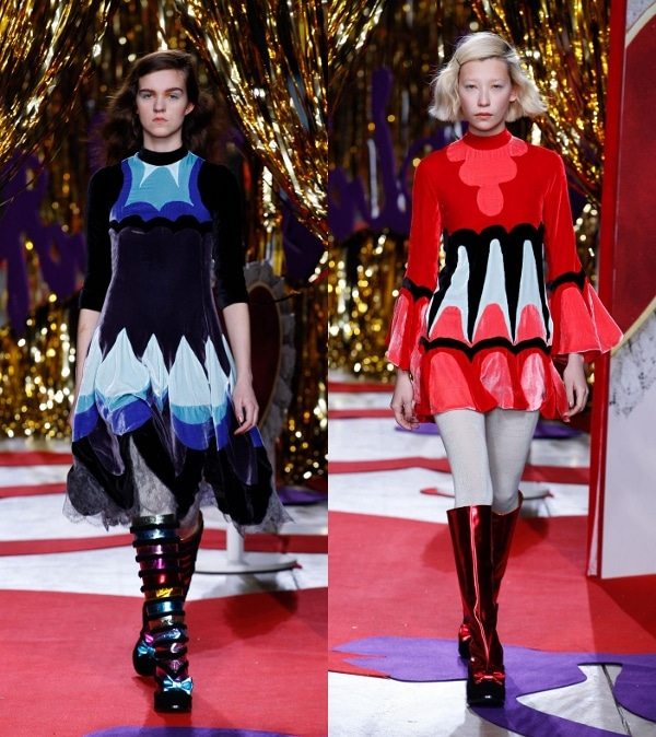 Meadham Kirchhoff's Fall 2014 show in London, England, on February 18, 2014