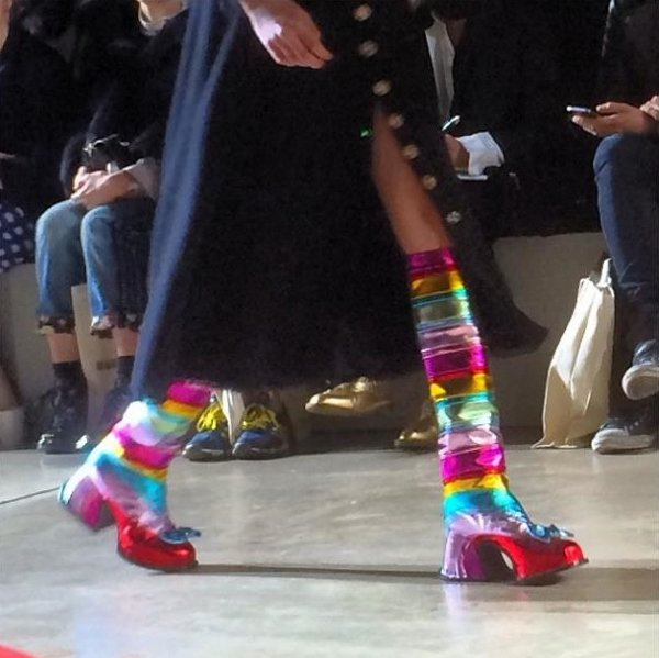 Rainbow platform boots from Meadham Kirchhoff's Fall 2014 collection