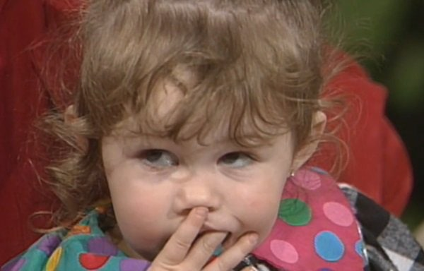 Miley Cyrus as a two-year-old