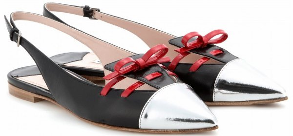 Miu Miu Leather Slingback Pumps