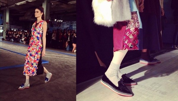 Nicholas Kirkwood's loafer designs for Roksanda Ilincic's Fall 2014 collection