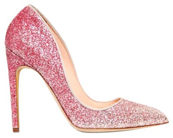 Rupert Sanderson Elba Pumps Glitter Pink