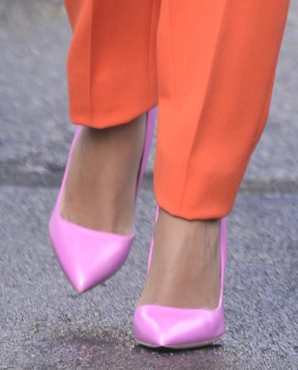 Solange Knowles wearing Rupert Sanderson 'Elba' pumps