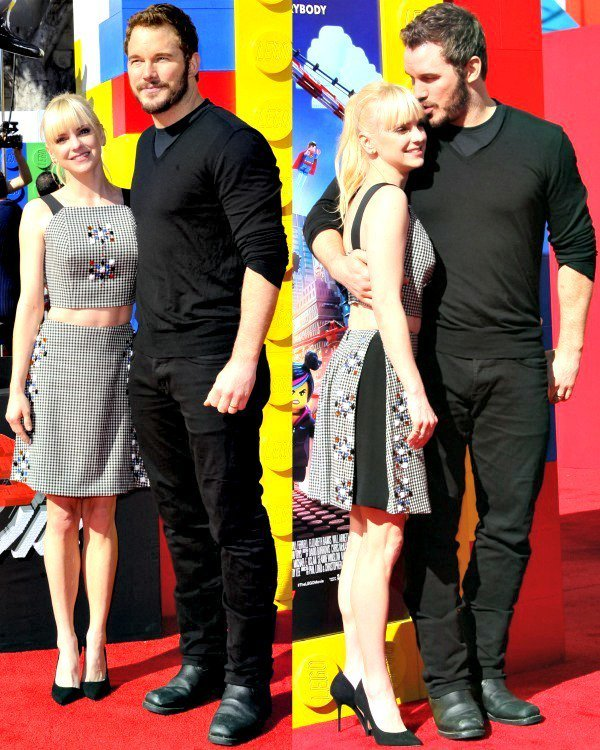 Anna Faris with husband Chris Pratt at the premiere of 'The Lego Movie'