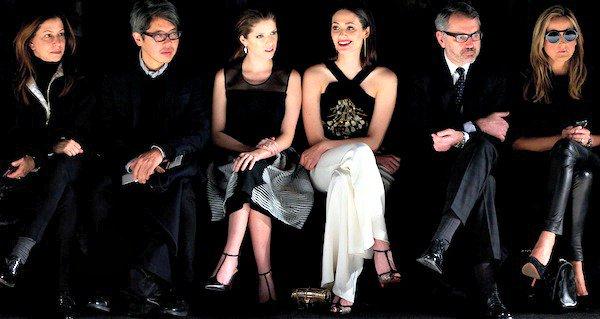 The front row at the Carolina Herrera Fall/Winter 2014 runway presentation during New York Fashion Week