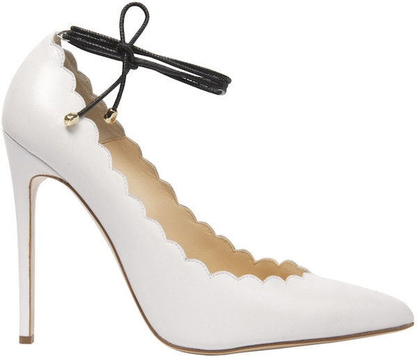 "Bionda Castana ""Rosario"" in White Leather"
