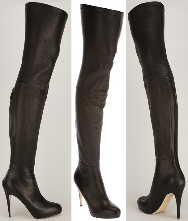 David Over-the-Knee Leather Boots