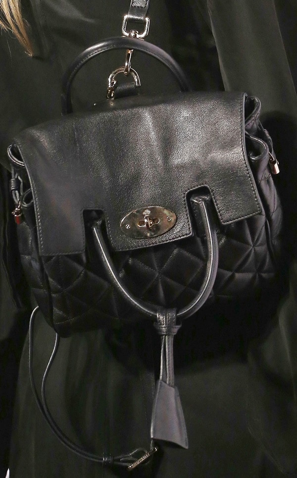 Cara Delevingne's beautiful black bag in quilted Nappa leather