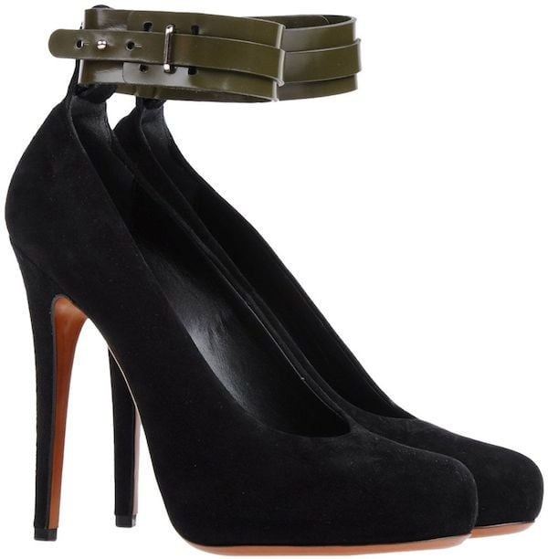 Celine Ankle-Wrap Platform Pumps