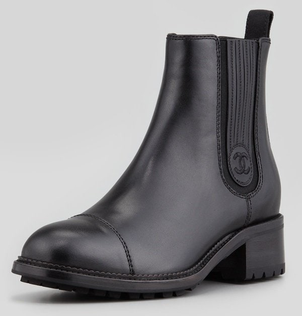 chanel chelsea ankle boots