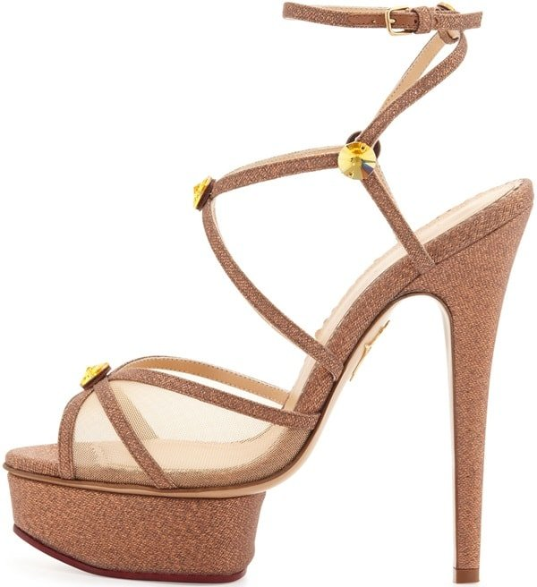 "Charlotte Olympia ""Isadora"" Platform Sandals in Caramel"