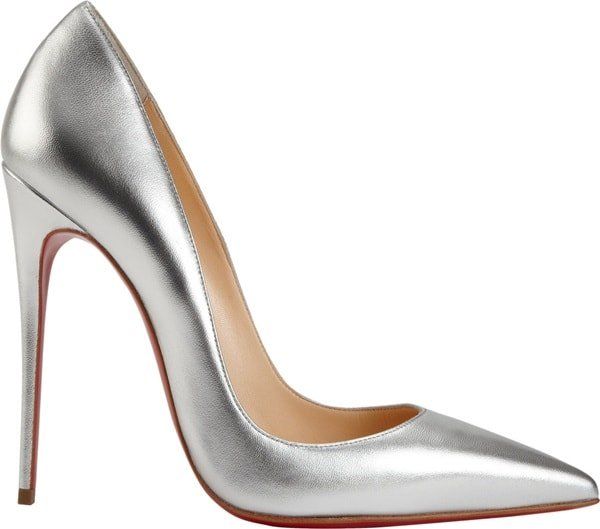 """Christian Louboutin """"So Kate"""" Pumps in Silver"""