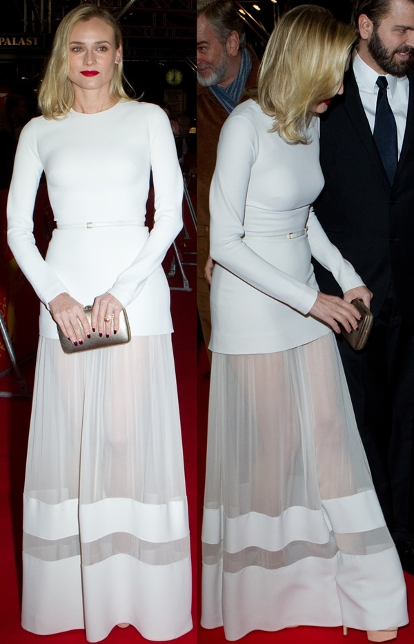 Diane Kruger at the premiere of The Better Angels during the 64th Berlin International Film Festival