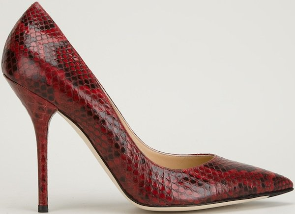 Dolce & Gabbana Python Pumps in Paprika Leather