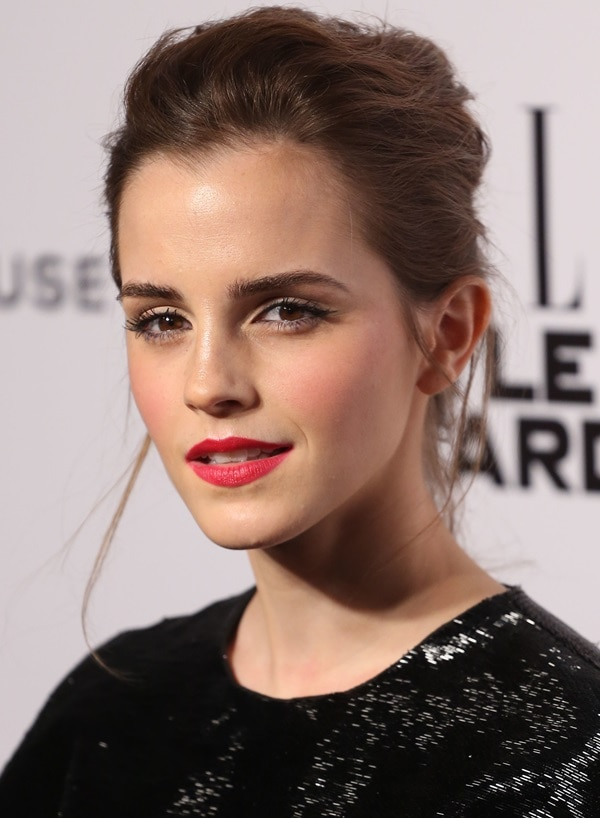 Emma Watson's chic updo at the 2014 Elle Style Awards