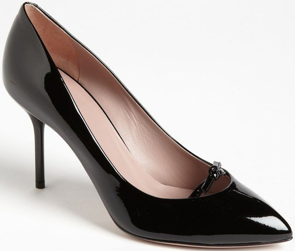 "Gucci ""Beverly"" Pumps in Black Patent Leather"