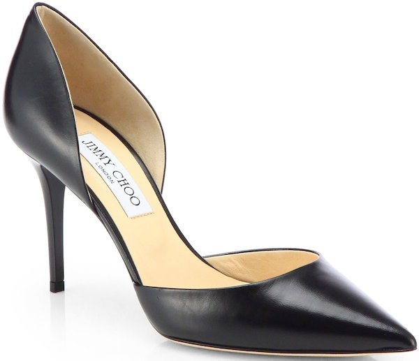 """Jimmy Choo """"Addison"""" d'Orsay Pumps in Black Leather"""