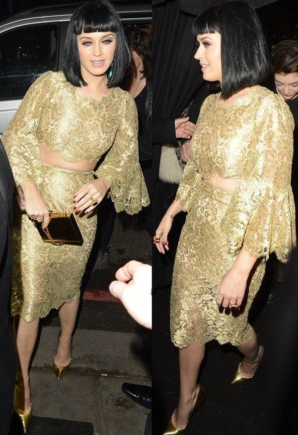 Katy Perry atUniversal Music's Brit Awards 2014 after-party