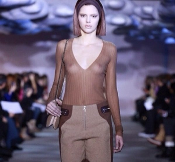 Kendall Jenner bared her boobs for Marc Jacobs