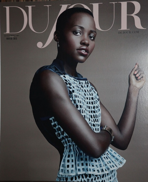 Lupita Nyong'o on the cover of Dujour Magazine Winter 2013-2014