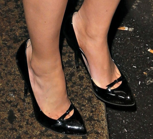 "Mollie King's ""Beverly"" pumps from Gucci"