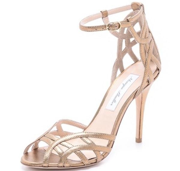 Monique Lhuillier Ankle-Strap Sandals
