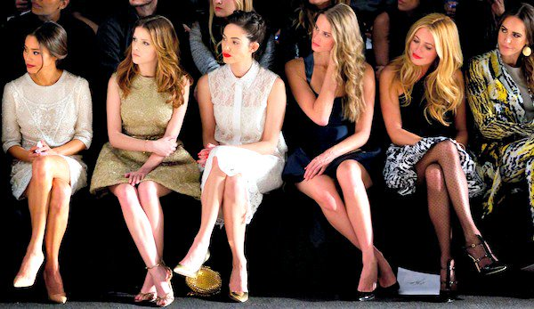 The front row at the Monique Lhuillier Fall/Winter 2014 runway presentation during New York Fashion Week