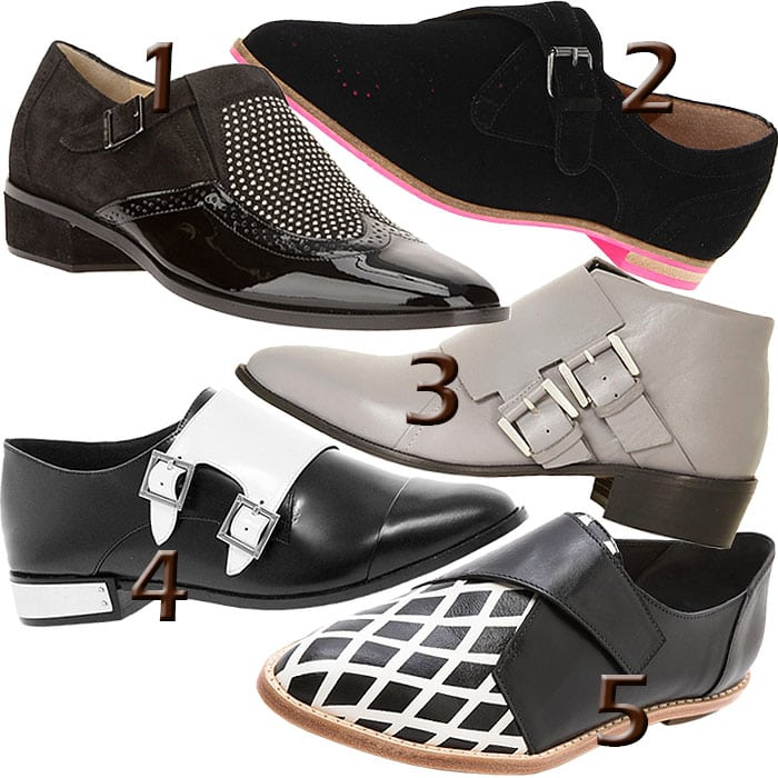 monk shoes with little girly touches