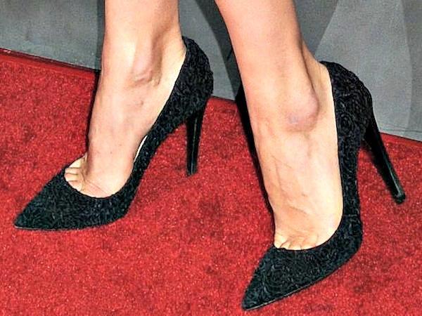Olga Kurylenko's feet indeceptively simple black pumps