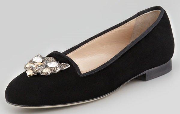 Oscar de la Renta Blairclo Cat-Face Loafers